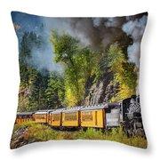 Durango-silverton Narrow Gauge Railroad Throw Pillow