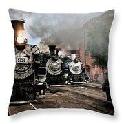 Durango - Silverton Railroad Throw Pillow