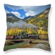 Durango-silverton Twin Bridges Throw Pillow