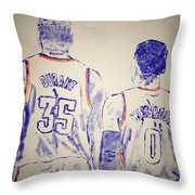 Durant And Westbrook Throw Pillow