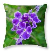 Duranta Flower 2 Throw Pillow
