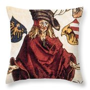 Durers Syphilitic Man Throw Pillow