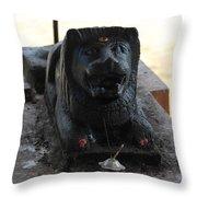 Durga's Lion, Valparai Throw Pillow