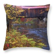 Durgin Covered Bridge Sandwich Throw Pillow