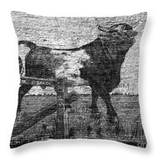 Durham's Bull Throw Pillow