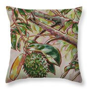Durian Belanda Throw Pillow