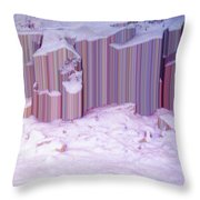 During The Snow Fall 33  Throw Pillow