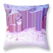 During The Snow Fall 35 Throw Pillow