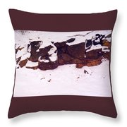 During The Snow Fall  Throw Pillow