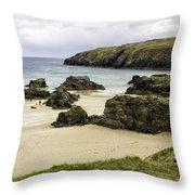 Durness Beach Throw Pillow