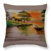 Dusk And Dawn Throw Pillow