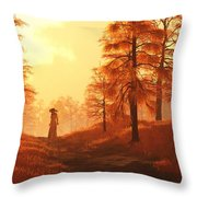Dusk Approaches In Sleepy Hollow Throw Pillow
