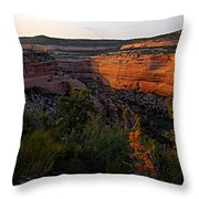 Dusk At Colorado National Monument Throw Pillow