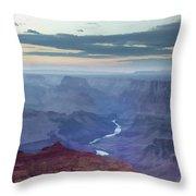 Dusk At Desert View Throw Pillow
