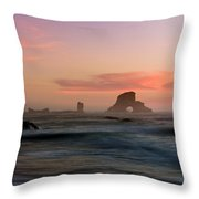 Dusk At Ecola Point Throw Pillow