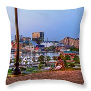 Dusk At Federal Hill Throw Pillow