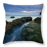 Dusk At Kiwanda  Throw Pillow