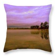 Dusk At Lake Murray Sc Throw Pillow