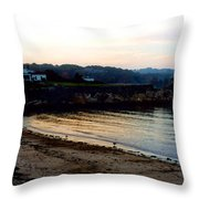 Dusk At Rockport Throw Pillow