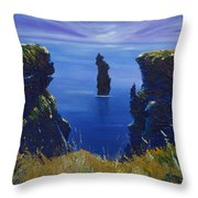 Dusk At The Devils Castle Throw Pillow