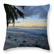 Dusk Beach Throw Pillow