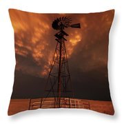 Dusk Down At The Mill Throw Pillow