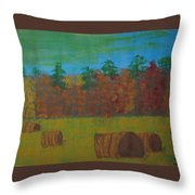Dusk In The County Throw Pillow