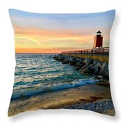 Dusk In Charlevoix Throw Pillow