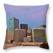 Dusk In Dallas Throw Pillow