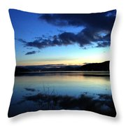 Dusk In December Throw Pillow