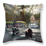 Dusk In Goa  Throw Pillow