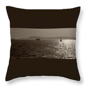 Dusk In Peninsula Throw Pillow