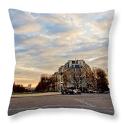 Dusk Throw Pillow by Milan Mirkovic