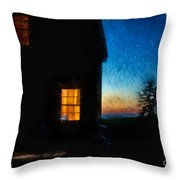 Dusk, Monhegan Island, Maine Throw Pillow