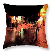 Dusk On Bourbon Street  Throw Pillow