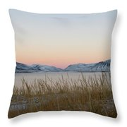 Dusk On Grundarfjordur Throw Pillow