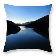 Dusk On Lillooet Lake Throw Pillow