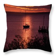 Dusk On The Bay Throw Pillow