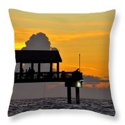 Dusk Over The Gulf Throw Pillow