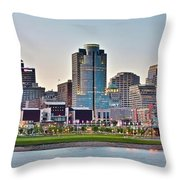 Dusk Pano In Cincinnati Throw Pillow