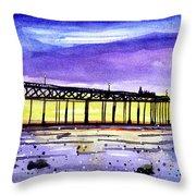 Dusk Pier Throw Pillow