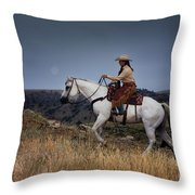 Dusk Ride Throw Pillow