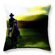 Dusk Rider Throw Pillow