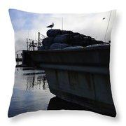 Dusk Seagull 2386 Throw Pillow