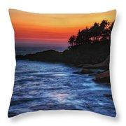 Dusk Stirred Depoe Bay Throw Pillow