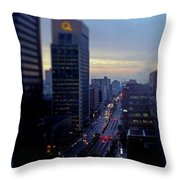 Dusk View From My Suite Throw Pillow