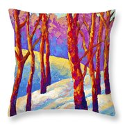 Dusk's Veil Throw Pillow