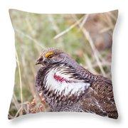 Dusky Grouse Throw Pillow