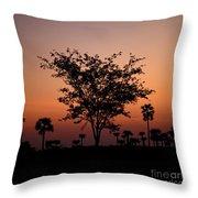 Dusky Tree Throw Pillow