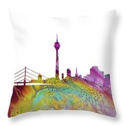 Dusseldorf Skyline 3 Throw Pillow